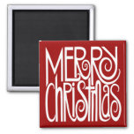 Merry Christmas White Magnet