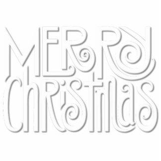 Merry Christmas white Photo Sculpture