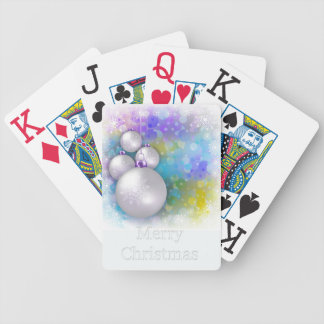 Merry Christmas white playing cards