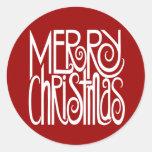 Merry Christmas White Sticker
