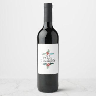 Merry Christmas Wine Label