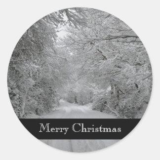 Merry Christmas Winter Sticker