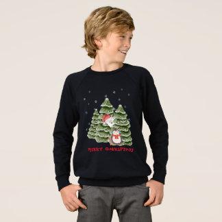 Merry Christmas With A Penguin And Polar Bear Sweatshirt