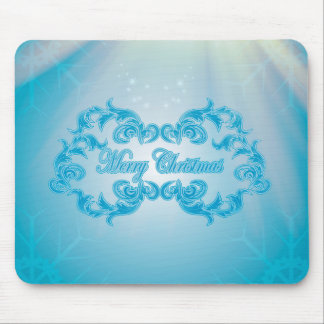 Merry Christmas with elegant, decorative damasks Mousepad