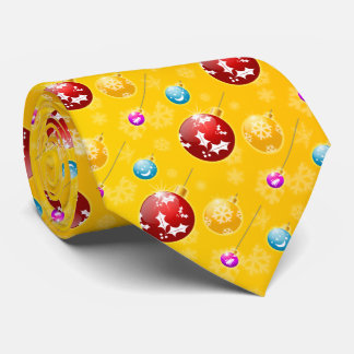 Merry Christmas with Festive Holiday Ornaments Tie