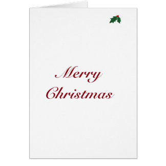 Merry Christmas with Holly Card