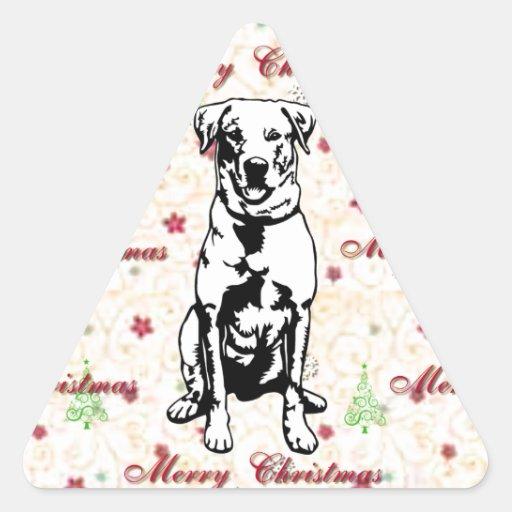Merry Christmas with labrador retriever Stickers