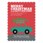 Merry Christmas with New Home Address Moving Invites