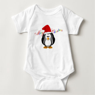 """Merry Christmas with penguin"" Tees"