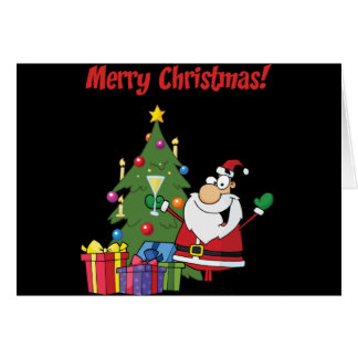 Merry Christmas with Santa Claus Greeting Card