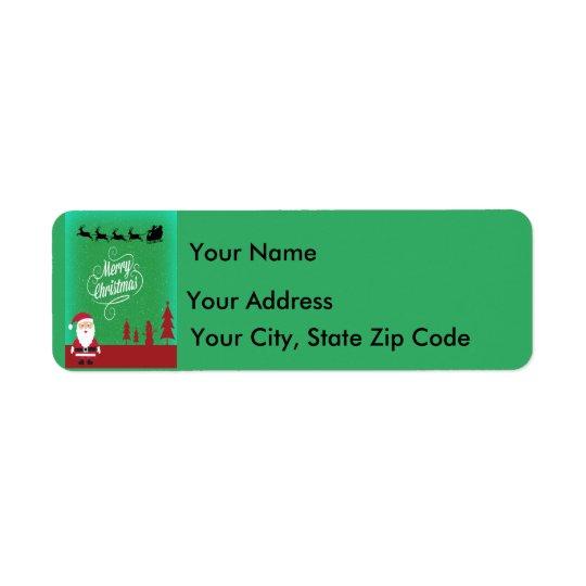 Merry Christmas with Santa Return Address Label