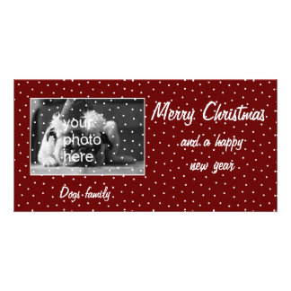 Merry Christmas with snow Personalized Photo Card