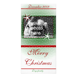 Merry Christmas with snow Photo Cards