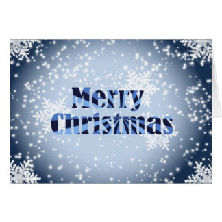 Merry Christmas with snowflakes greeting card