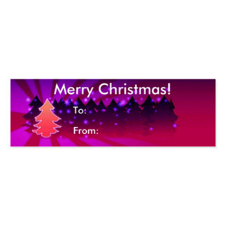 Merry Christmas With Trees Tag Pack Of Skinny Business Cards