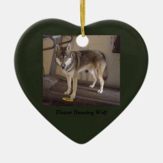 Merry Christmas wolfdog Christmas Ornament