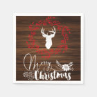 Merry Christmas wood holiday napkins Disposable Napkin