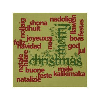 Merry Christmas Word Cloud Canvas Prints