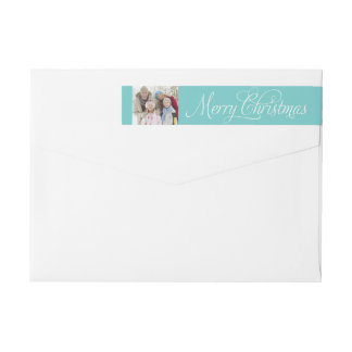 Merry Christmas | Wraparound Return Address Label