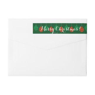 Merry Christmas wraparound return address labels