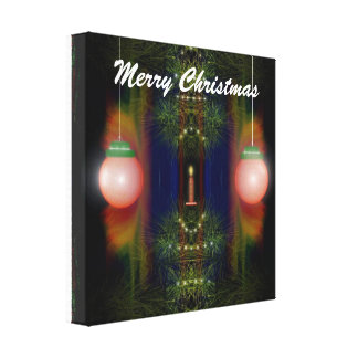 Merry Christmas Wrapped Canvas Gallery Wrap Canvas