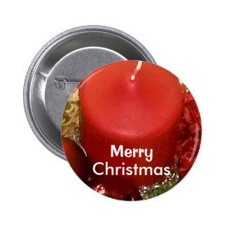 Merry Christmas Wreath 6 Cm Round Badge
