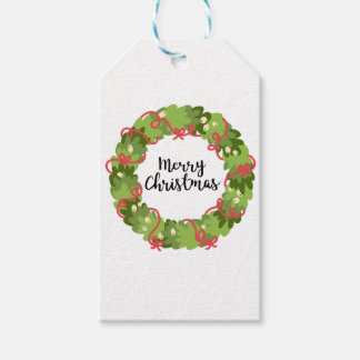 MERRY CHRISTMAS WREATH, Cute Gift Tags