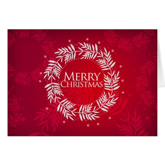 Merry Christmas Wreath Greeting Card