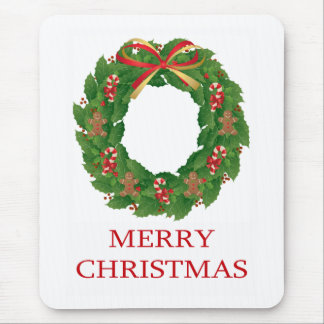 MERRY CHRISTMAS - WREATH MOUSE PAD