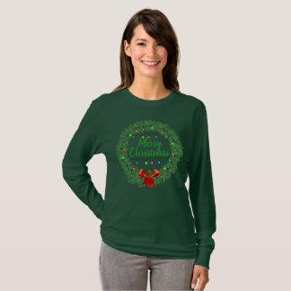 Merry Christmas Wreath T-Shirt