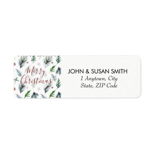 Merry Christmas xmas holiday return address labels