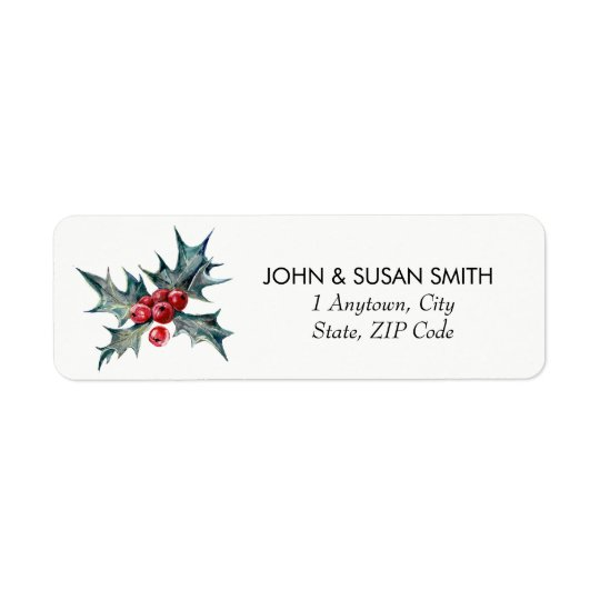 Merry Christmas xmas holiday return address labels