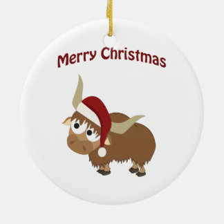 Merry Christmas! Yak Christmas Ornament