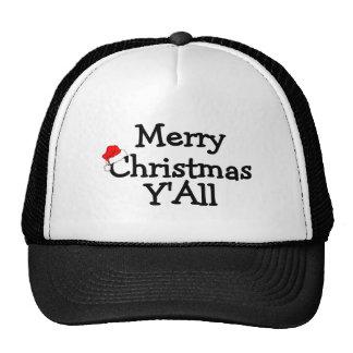 Merry Christmas Yall Cap
