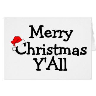 Merry Christmas Yall Card