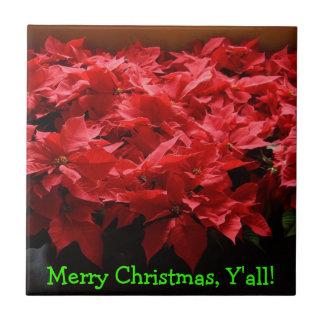 Merry Christmas, Y'all! Christmas Tile