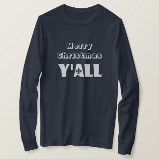 Merry Christmas Y'all Fleur-de-Lis Louisiana Shirt