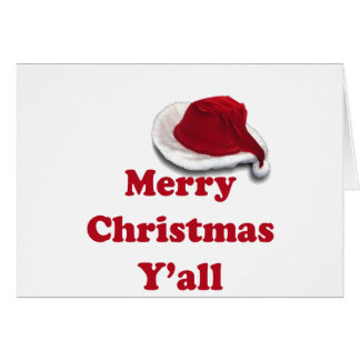 Merry Christmas Y'all! Greeting Card