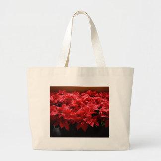 Merry Christmas, Yall! Poinsettias Jumbo Tote Bag