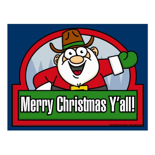 Merry Christmas Y'all Postcard