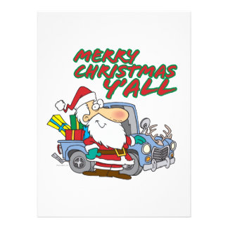 merry christmas yall redneck santa custom invitation