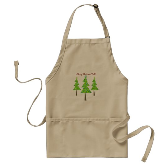 Merry Christmas Y'all! Standard Apron