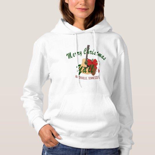 Merry Christmas Ya'll Women's Hooded Shirt