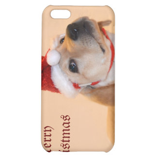 Merry Christmas - Yellow Lab iPhone 5C Covers