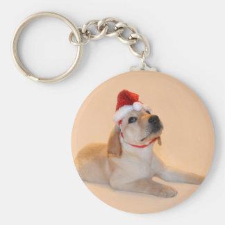 Merry Christmas - Yellow Lab Key Chain