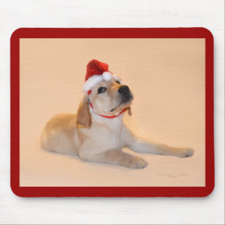 Merry Christmas - Yellow Lab Mouse Mat