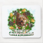 Merry Christmas Yorkie Mouse Mat