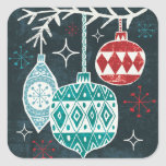 Merry Christmastime Ornaments Square Sticker