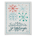 Merry Christmastime Snowflakes Poster