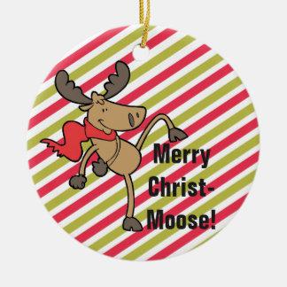 Merry Christmoose Cute Moose Christmas Christmas Ornament